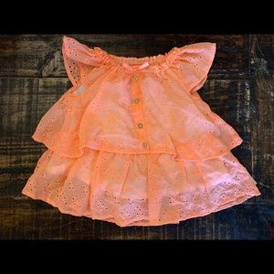 2/$20 Juicy Couture Peach Eyelet Top